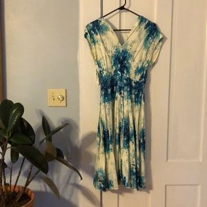 Beautiful blue floral print Anthropologie dress